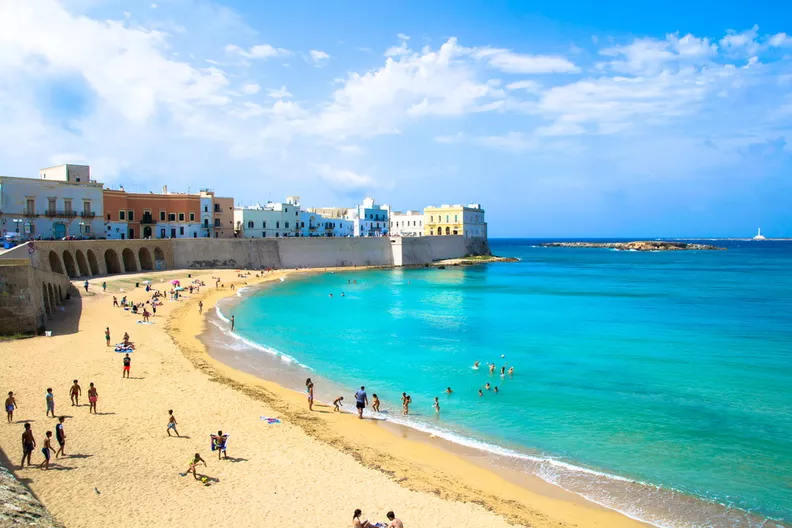La spiaggia di Gallipoli